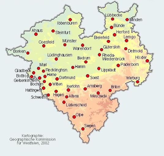 münster karte Finanzgericht Münster: Karte des Gerichtsbezirks